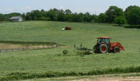 Harvesting our own hay at deGraan Farms